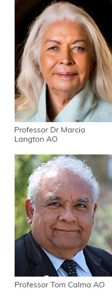 Photo of Professor Dr Marcia Langton AO and Professor Tom Calma AO
